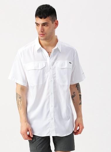 Columbia Columbia AM1567 Silver Ridge Lite Short Sleeve Shirt Gömlek Beyaz
